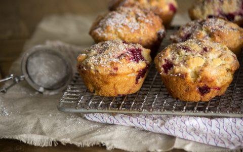 Raspberry and White Chocolate Muffins