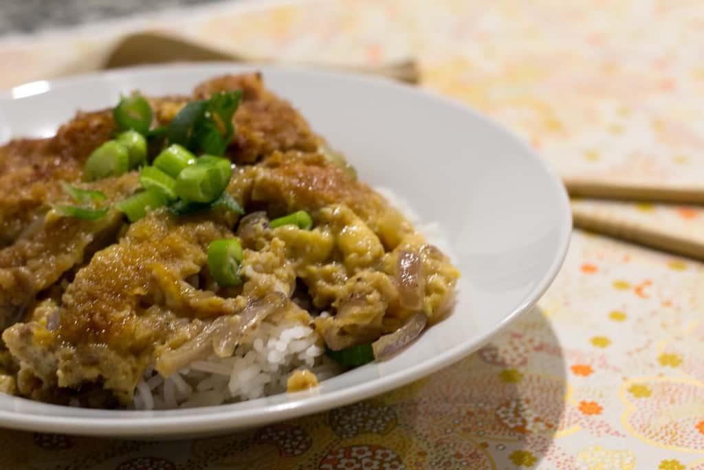 Family dinner recipes - Katsudon