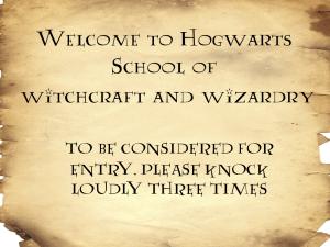Harry Potter sign for front door