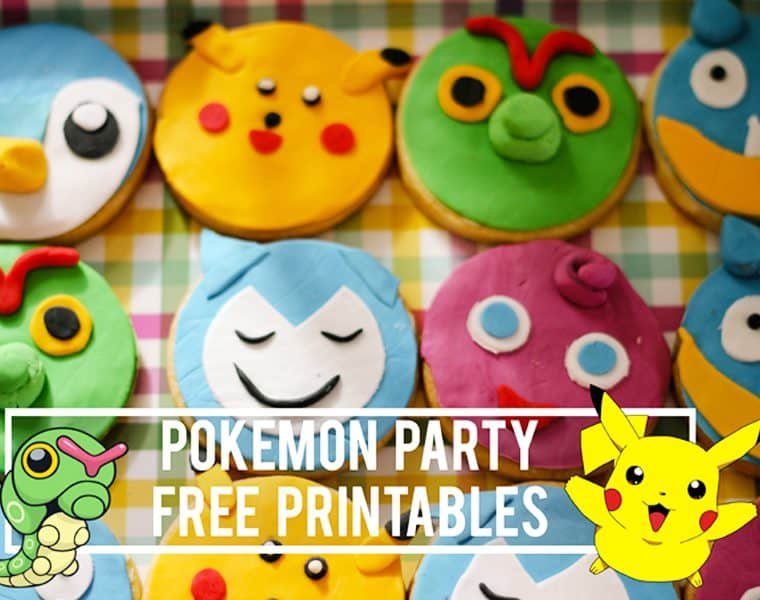 Pokemon party free printables