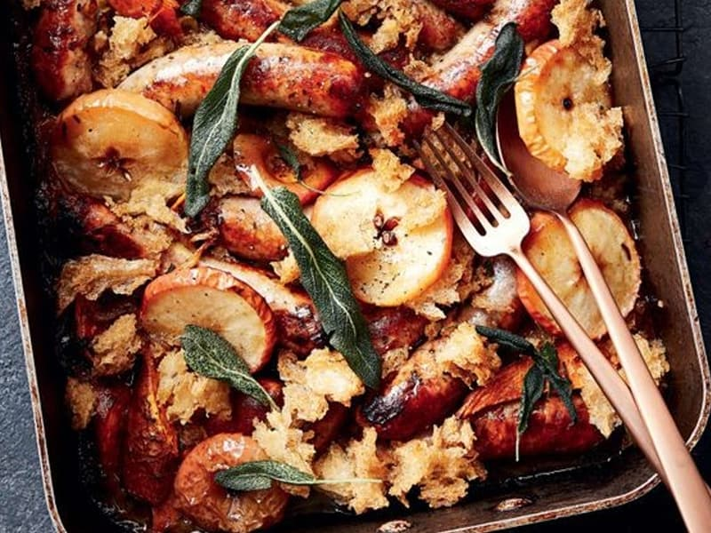 Sausage tray bake + 24 other family dinner recipes we love