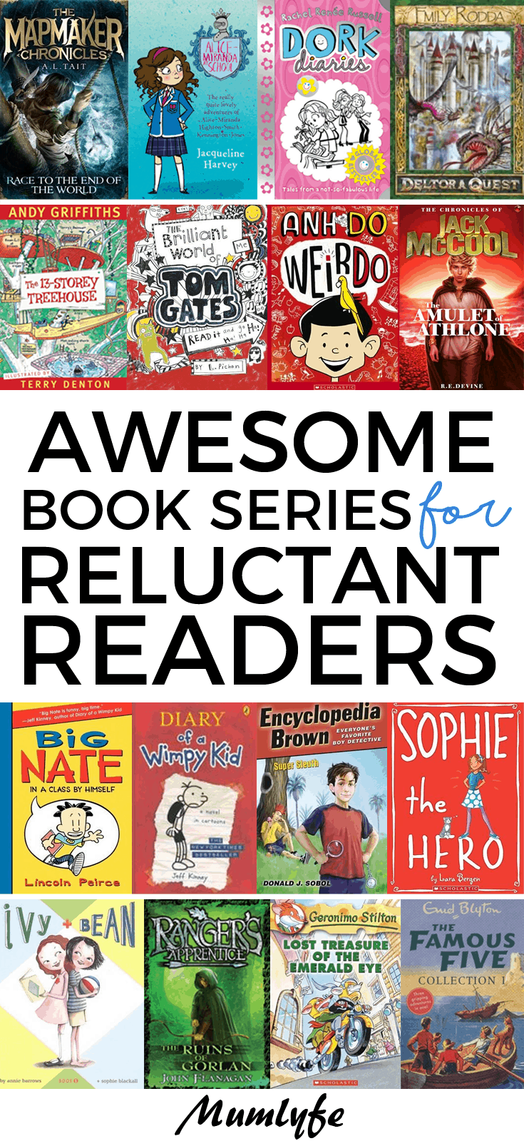 17 awesome book series for reluctant readers