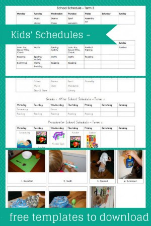 Foster independence with this kids' Schedule - Free Template