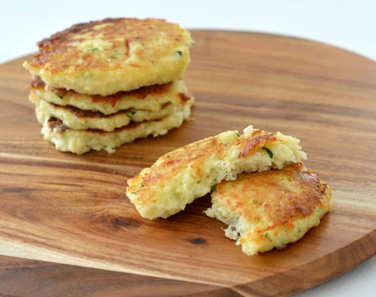 Cheese and cauliflower fritters recipe
