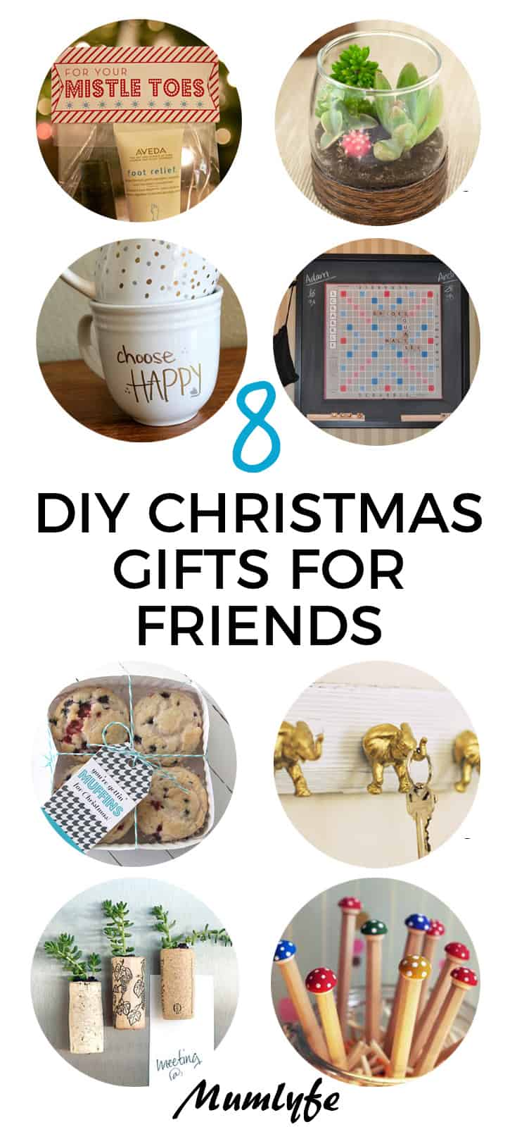 DIY Christmas Gifts for Friends - easy to make tutorials