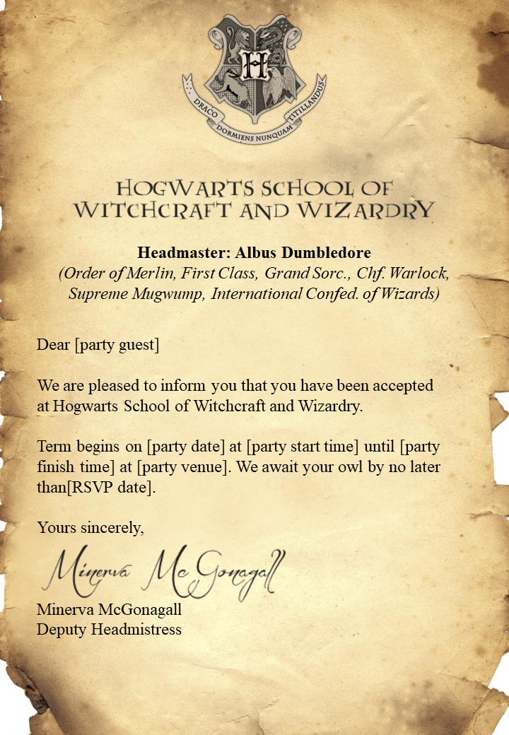 Instructions To Download The Free Harry Potter Invitations