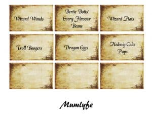 Harry Potter Free Printables Invitation Decorations Games And