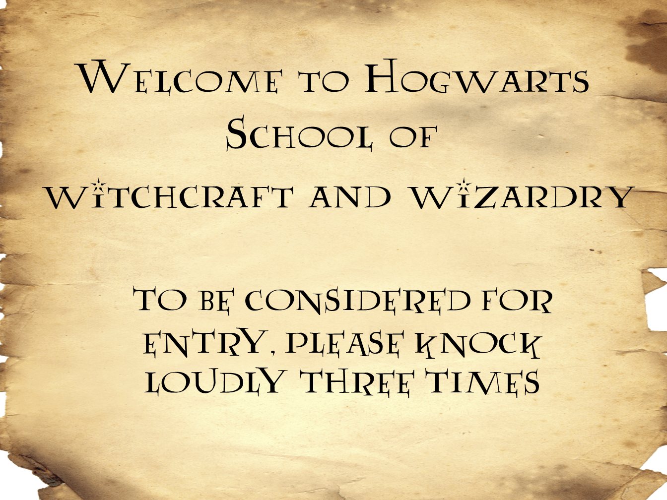 Harry Potter Sign For Front Door Mumlyfe