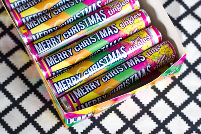 Merry Christmas Fruit Tingle wrappers
