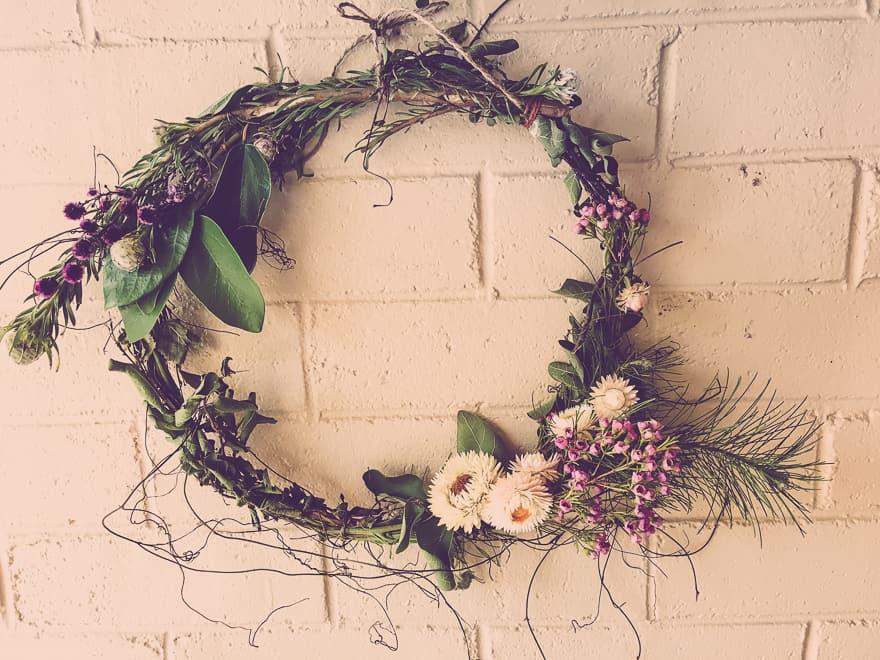 Natural Christmas Wreath tutorial