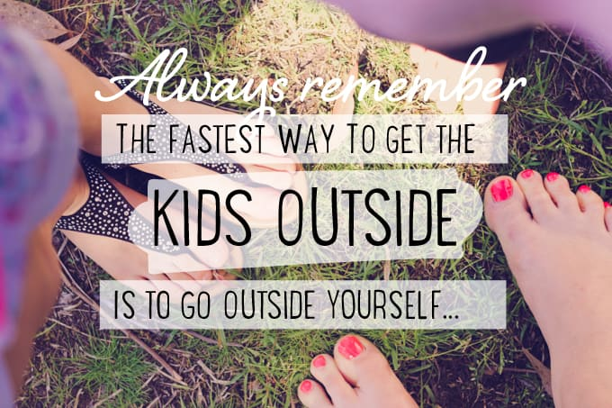 Great outdoor activity for older kids - get the kids outside!