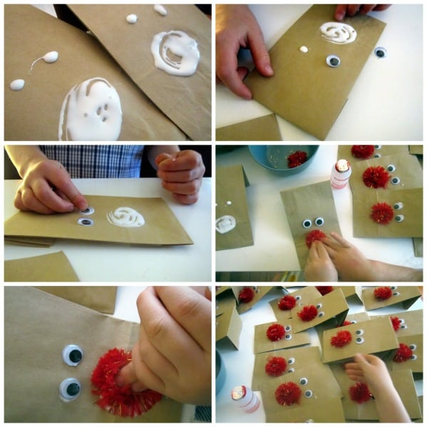 Rudolf Treat Bags DIY tutorial
