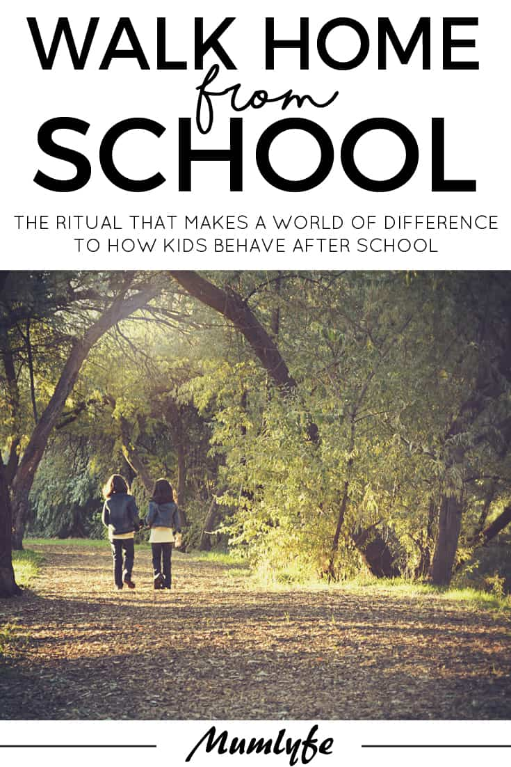 Walk home from school - the ritual that makes a world of difference