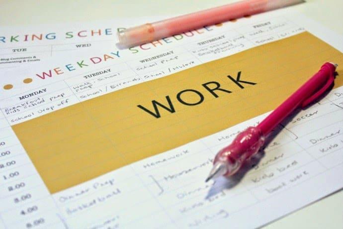 Get organised - the weekly schedule