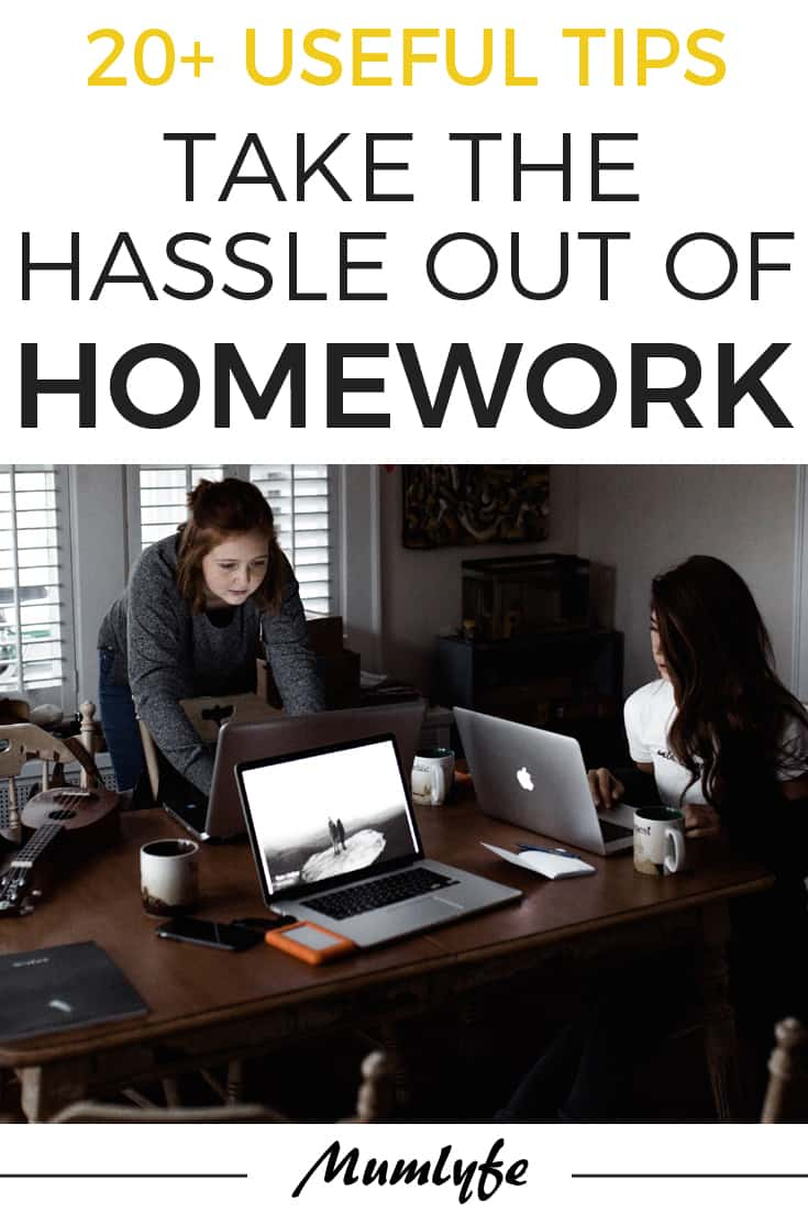 Homework tips - take the hassle out of homework