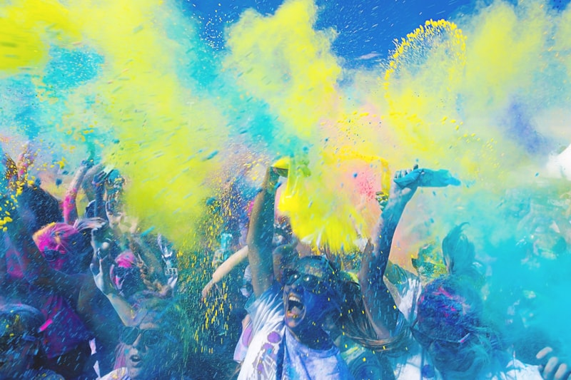 Teenage party ideas - colour run