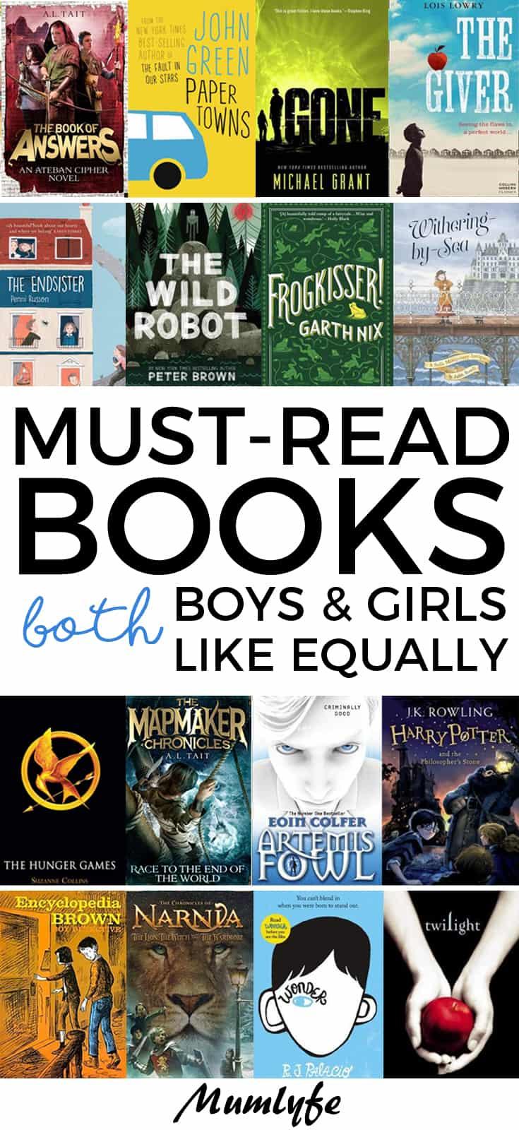 Books both girls and boys like equally