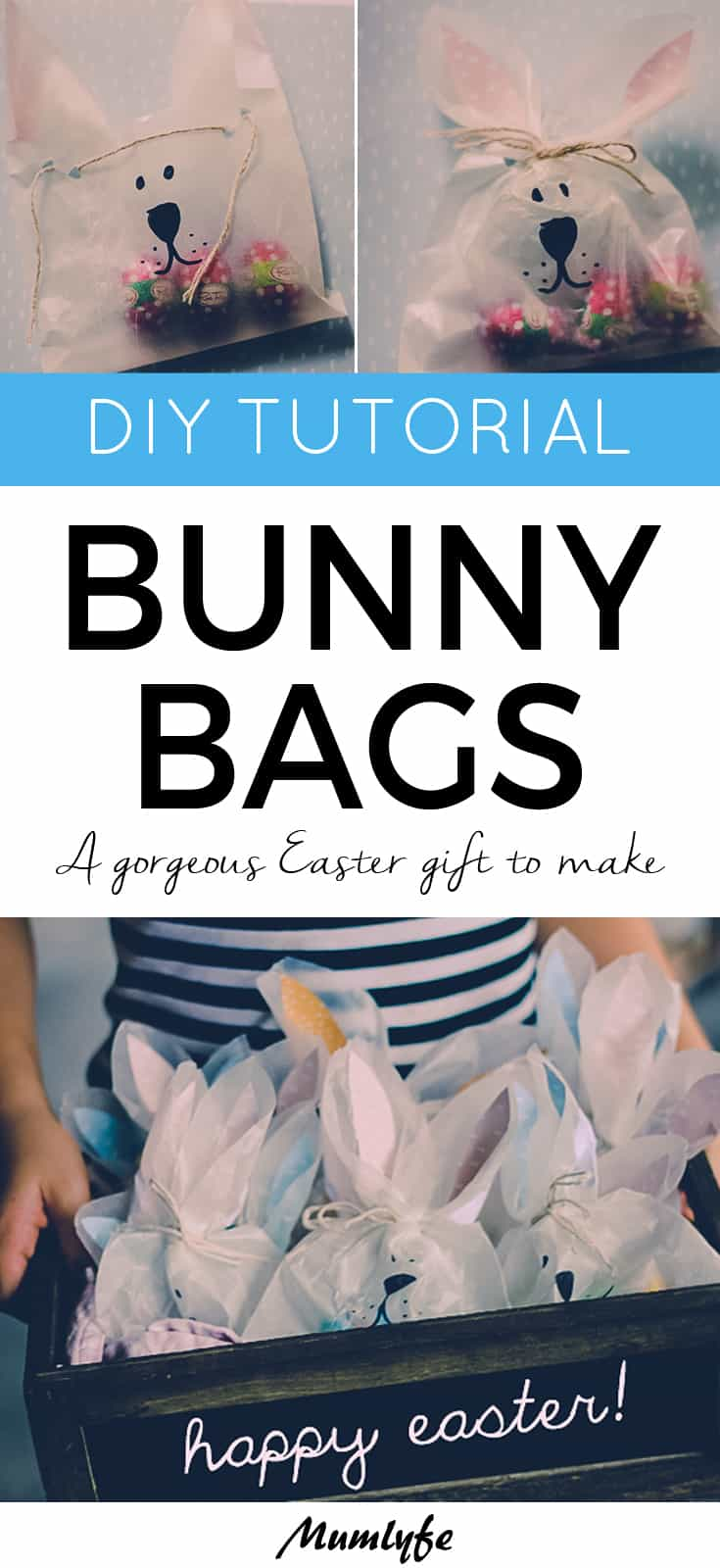 Bunny bags to make for Easter - a lovely gift for friends