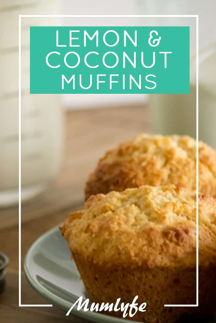 Lemon and coconut muffins - delicious and easy to make