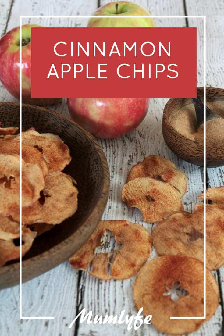 Cinnamon apple chips - 2-ingredient apple chips