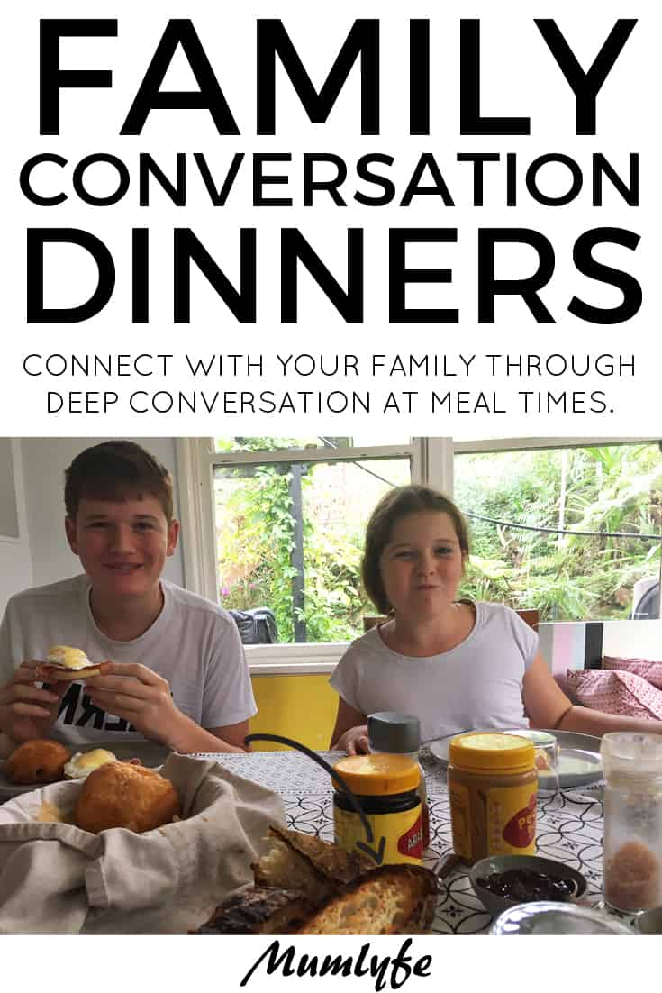 Family conversation dinners to connect with your family