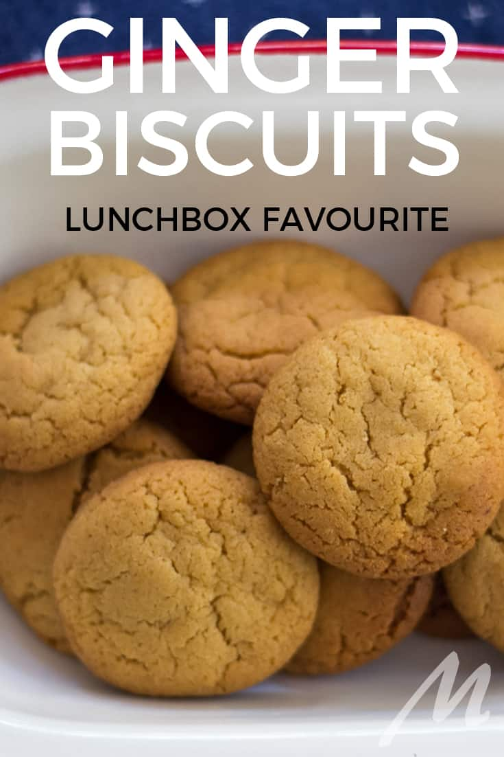 Ginger biscuits - makes bulk so you can freeze for lunchboxes