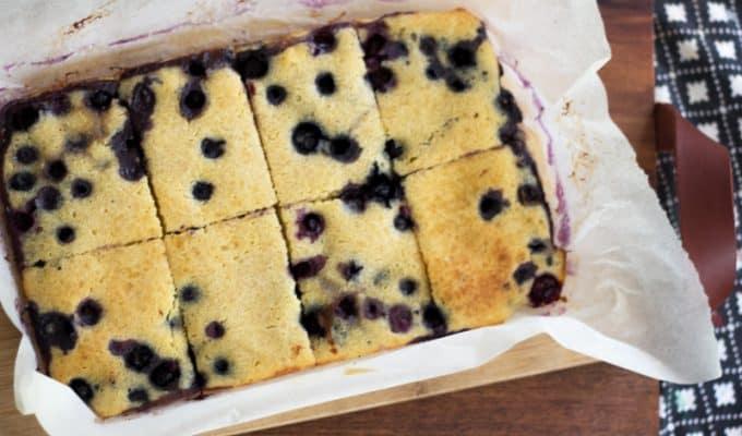 Blueberry pancake sheet cake - easy-as pancakes for a crow