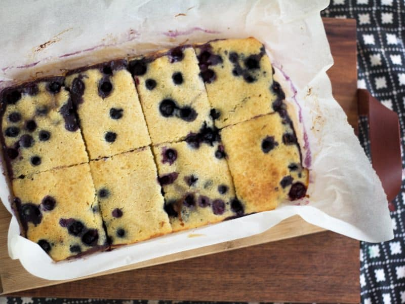 Blueberry pancake sheet cake - easy-as pancakes for a crow