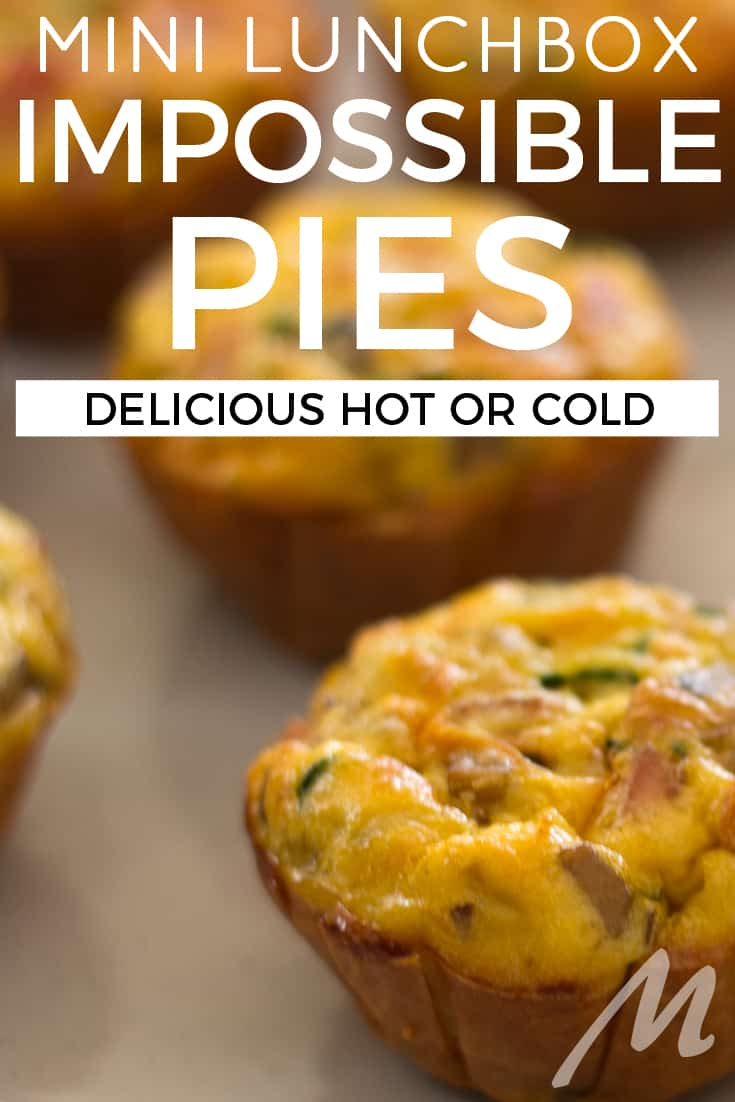 Mini impossible pies for the lunchbox