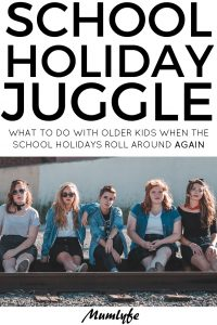 School holiday juggle - How to juggle work and older kids in the school holidays