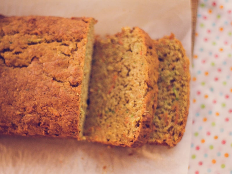 Zucchini carrot and apple loaf - a new family favourite