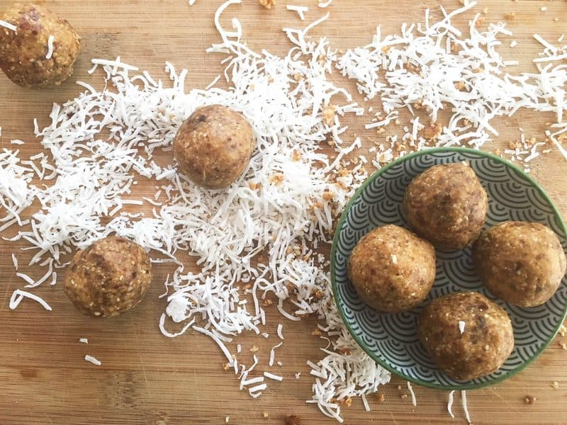 Date balls with a hint of chilli - superb
