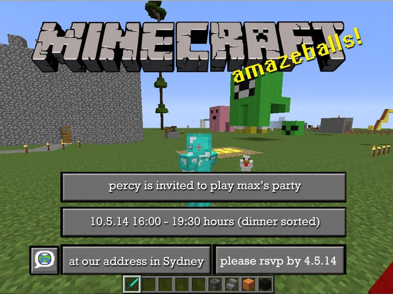 Free Minecraft Party Invitations To Download Edit And Print Mumlyfe