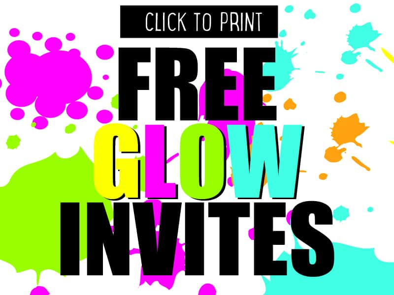 Free glow party invites - download, edit and print for free