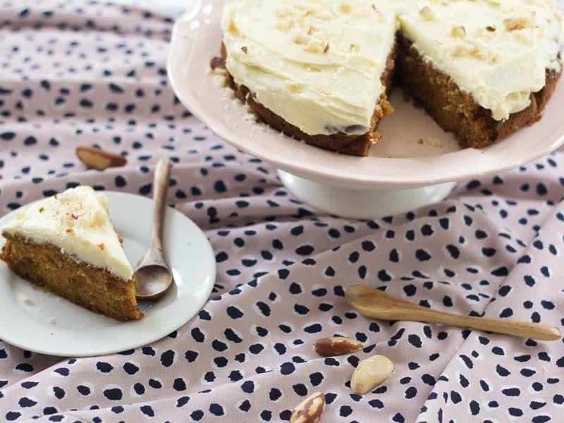 Wholemeal ginger carrot cake recipe