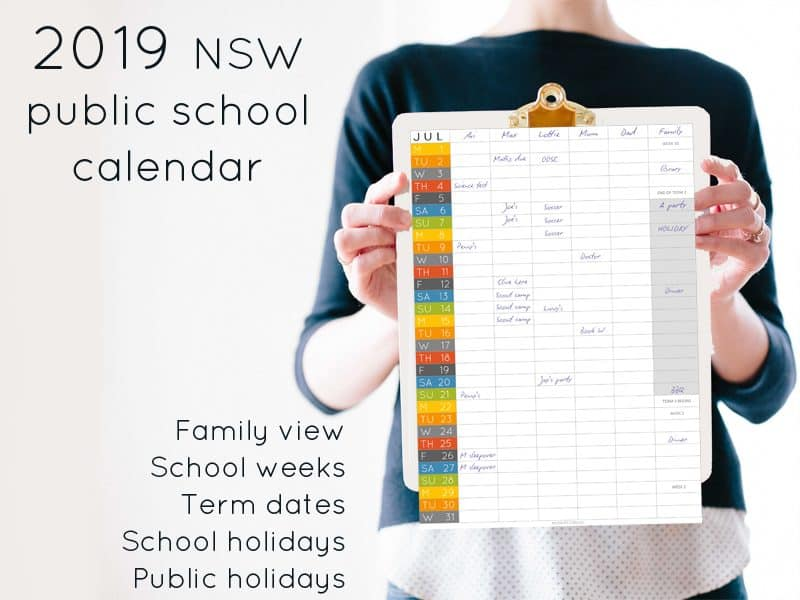 2019 NSW public school calendar