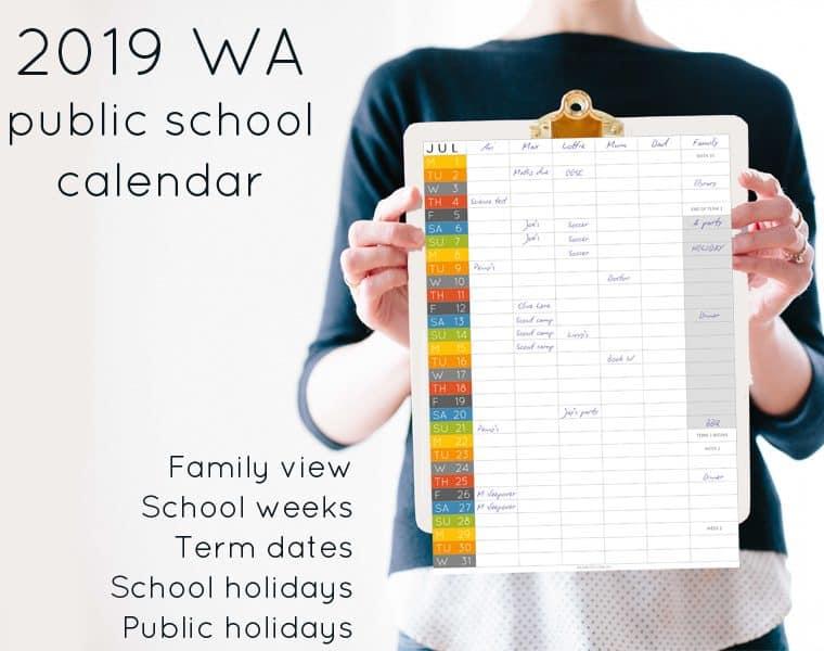 2019 WA public school calendar