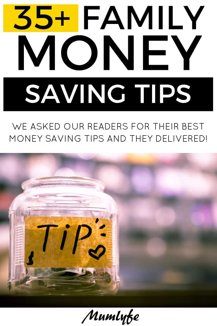 35 money saving tips for families