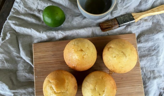 Lime syrup cupcakes recipe