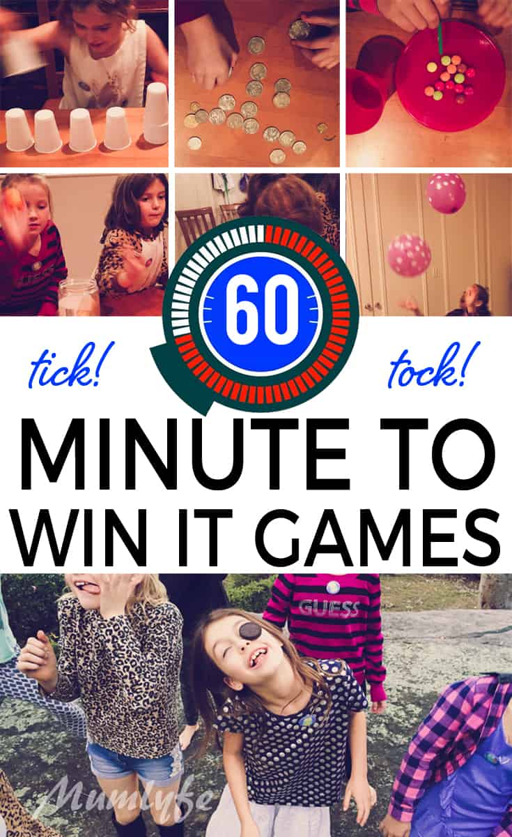 Minute to Win It game ideas - beat the clock and have loads of fun