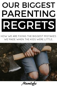 My biggest parenting regrets - and how I'm fixing them now. #parenting