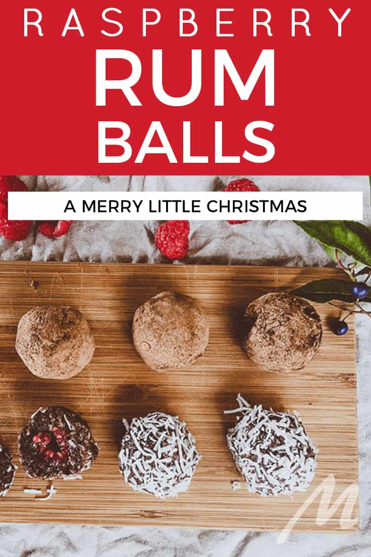 Raspberry rum balls recipe for a merry little Christmas