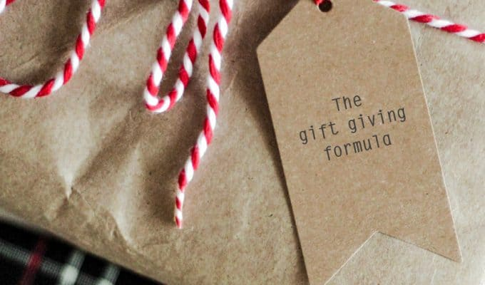 The gift giving formula: how to simplify gift giving at Christmas