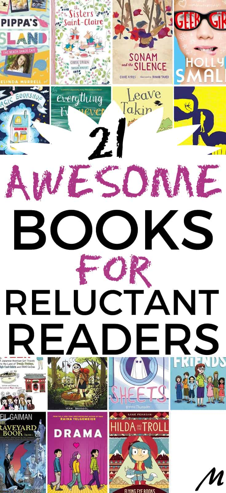 21 awesome book gifts for reluctant readers #reader #giftsforkids #reluctantreaders #books