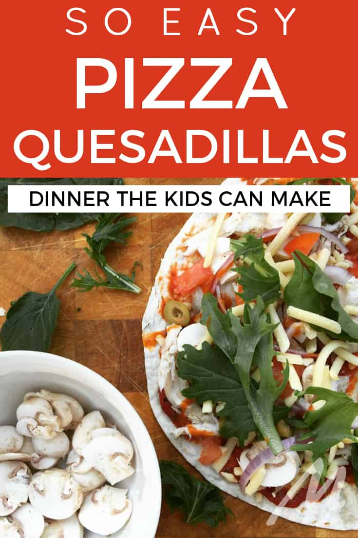 Pizza quesadillas - the easy dinner the kids can make #pizza #quesadilla #pizzaquesadilla #dinner #recipe #familydinner #kidfriendly