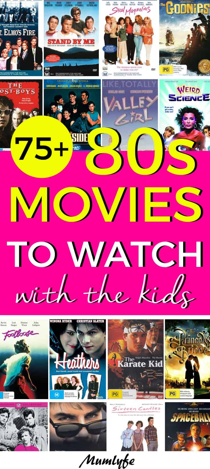 The best 80s movies to watch with the kids - awesome way to spend time together #80smovies #teens #movies