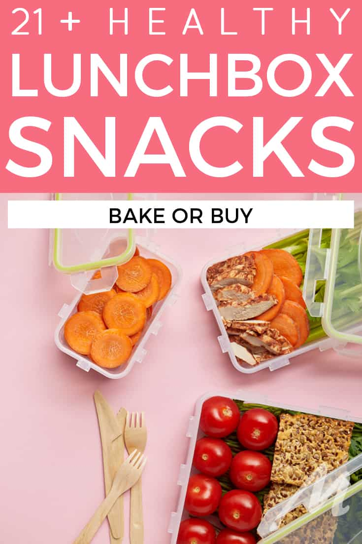 21 healthy lunchbox snacks to bake or buy #lunchbox