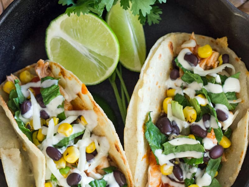 Supermarket chicken recipes - bbq chicken tacos