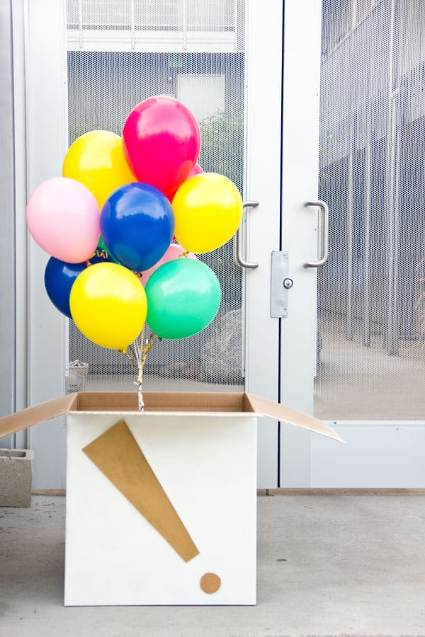 Make birthdays special - DIY Studio balloon box