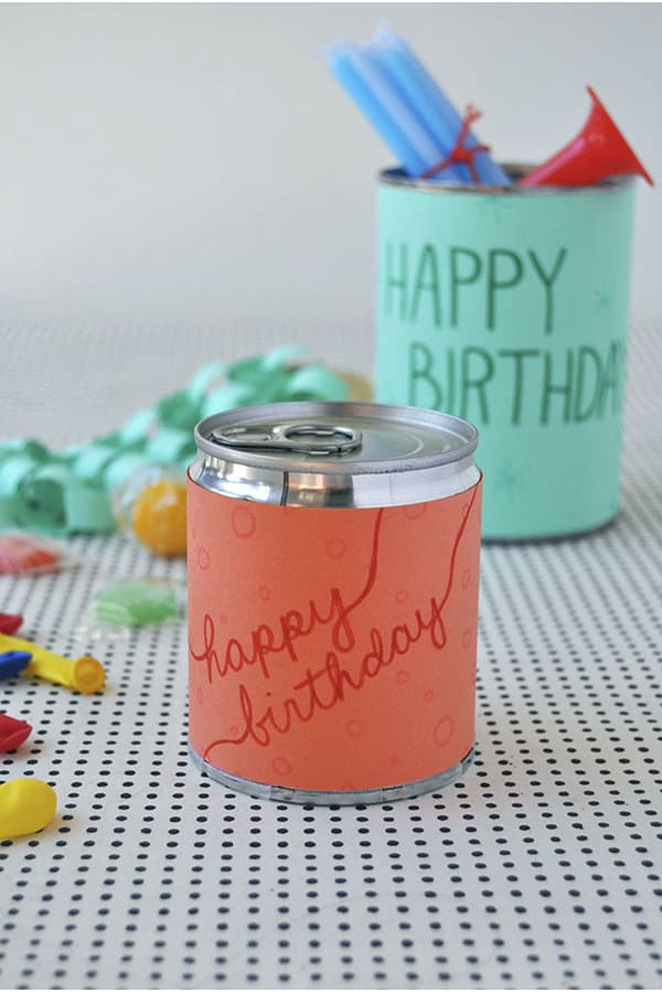 Make birthdays special - party in a can by Oh Happy Day